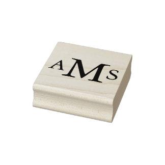 Las iniciales de encargo del monograma sello de caucho