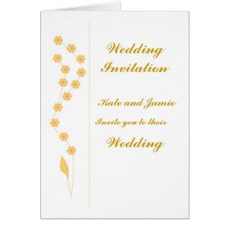 Las invitaciones del boda personalizan tarjeta de felicitación