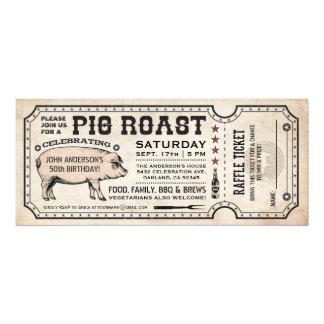 Las invitaciones del boleto de la carne asada del invitación 10,1 x 23,5 cm