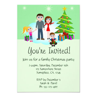 Las invitaciones del fiesta de la familia del