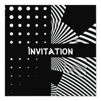 Las invitaciones negras y el estilo blanco mancha