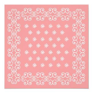 Las invitaciones rosadas del pañuelo de la vaquera invitación 13,3 cm x 13,3cm