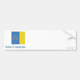 Las islas Canarias señalan por medio de una bander Pegatina Para Coche