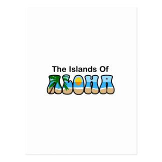LAS ISLAS DE LA HAWAIANA TARJETA POSTAL