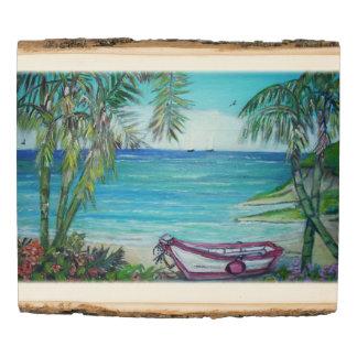 Las Islas Fiji - el panel de madera de la foto del
