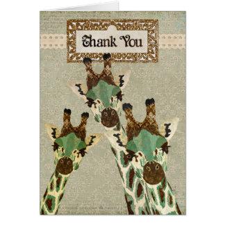 Las jirafas del cobre y del trullo le agradecen ca tarjeta de felicitación