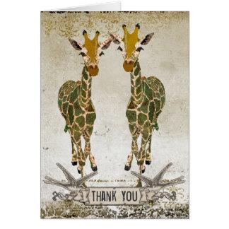 Las jirafas del oro le agradecen Notecard Tarjeta Pequeña