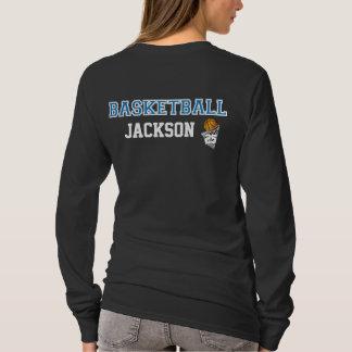Las letras azules el | del baloncesto personalizan camiseta