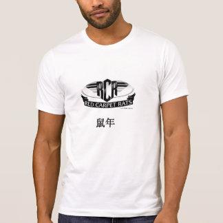 Las letras chinas de las RATAS de la ALFOMBRA ROJA Camisetas