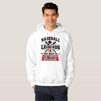 las leyendas del béisbol nacen en febrero sudadera