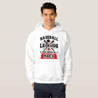 las leyendas del béisbol nacen en marzo sudadera