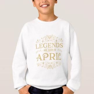 las leyendas nacen en abril sudadera