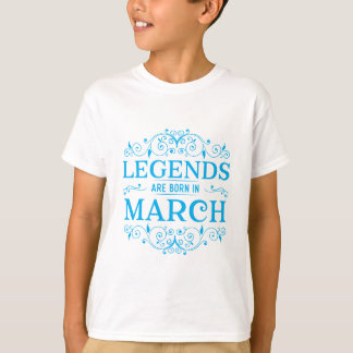 las leyendas nacen en marzo camiseta