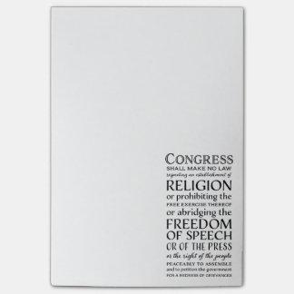 Las libertades de la Primera Enmienda - defienda Notas Post-it®