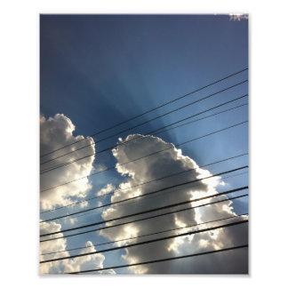 Las líneas de dios en el cielo impresion fotografica