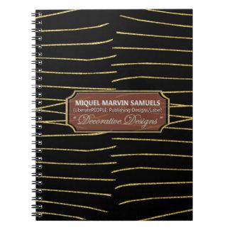 Las líneas del oro resuelven el cuaderno moderno
