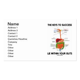 Las llaves a la mentira del éxito dentro de su tarjetas de visita