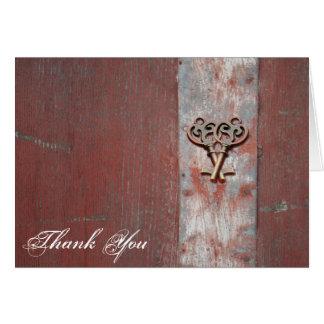 Las llaves maestras de madera pintadas país le tarjeta de felicitación