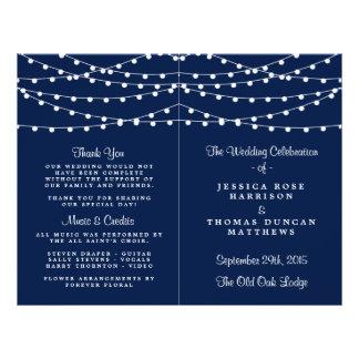 Las luces de la secuencia en la colección del boda folleto 21,6 x 28 cm