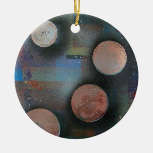 Las lunas metálicas adornos de navidad