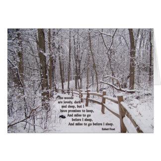 """""""Las maderas son"""" diseño de tarjeta precioso del"""