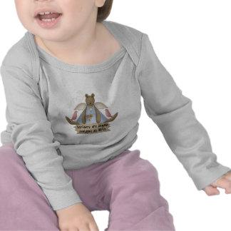 las madres son ángeles asignados en el nacimiento camisetas