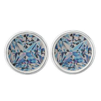 Las mancuernas redondas del diamante de cristal, gemelos