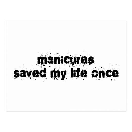 Las manicuras ahorraron mi vida una vez postal