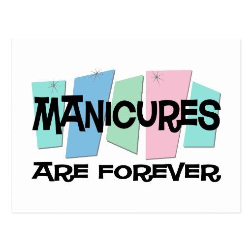 Las manicuras son Forever Tarjetas Postales