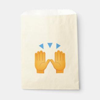 Las manos aumentaron Emoji Bolsa De Papel
