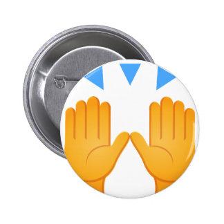 Las manos aumentaron Emoji Chapa Redonda De 5 Cm