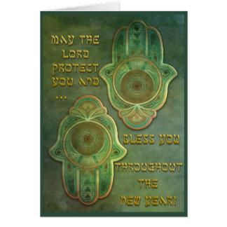 Las manos de Hamish - bendición del alto día de Tarjeta De Felicitación