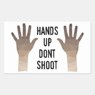 Las manos para arriba no tiran al pegatina