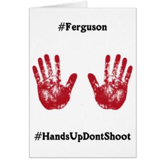 Las manos para arriba no tiran, Hashtag para Tarjeta De Felicitación