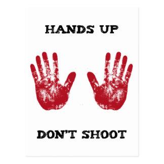 Las manos para arriba no tiran, la solidaridad postal