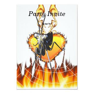Las mantis religiosas cromadas diseñan 2 con el invitación 12,7 x 17,8 cm
