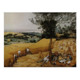 Las máquinas segadores de Pieter Bruegel la ancian Postales
