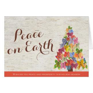 Las mariposas de la paz doblaron la tarjeta de