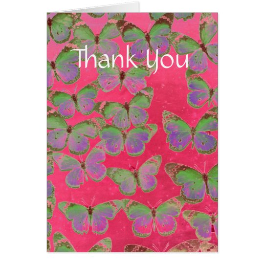 Las mariposas le agradecen cardar tarjeta de felicitación