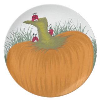 Las mariquitas del otoño plato