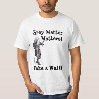 Las materias de la materia gris de la camiseta de