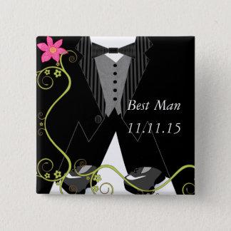 Las mejores insignias del boda de la zapato tenis chapa cuadrada