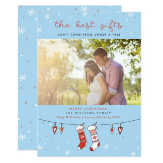 Las mejores tarjetas de Navidad del embarazo de