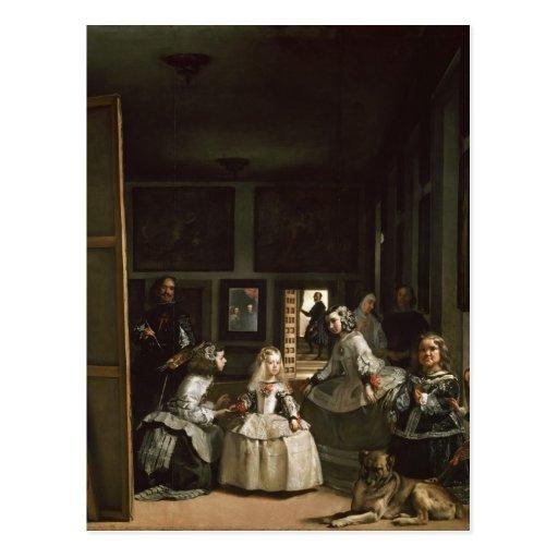 Las Meninas de Diego Velázquez Tarjeta Postal