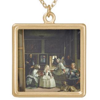 Las Meninas o la familia de Philip IV, c.1656 Colgante Cuadrado
