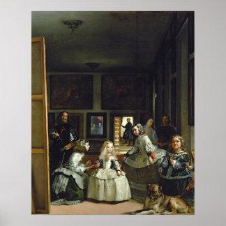 Las Meninas o la familia de Philip IV, c.1656 Poster