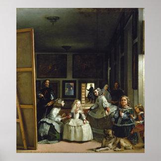 Las Meninas o la familia de Philip IV, c.1656 Póster