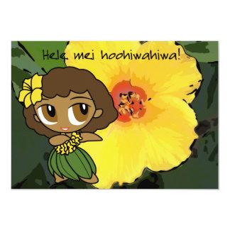 Las mieles Luau de la hawaiana invitan a la Invitación 12,7 X 17,8 Cm