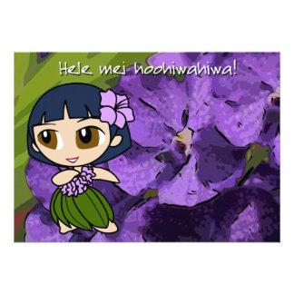 Las mieles Luau de la hawaiana invitan a la tarjet Invitacion Personal