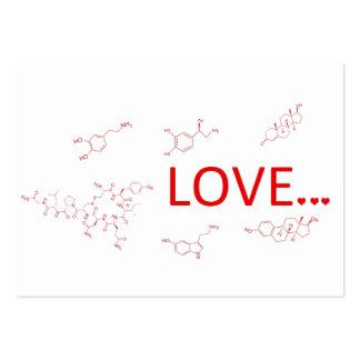 Las moléculas del amor… tarjetas de visita grandes